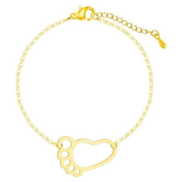 Bracelet naissance maman, doré