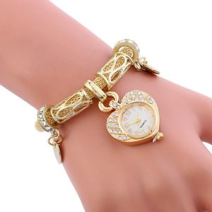 Sublime montre en forme de coeur Or